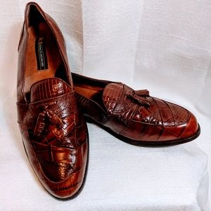 Stacy Adams Genuine Snake Loafers